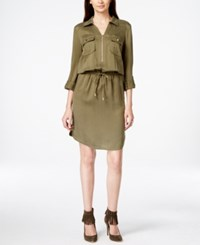 Inc International Concepts Zip Front Blouson Dress Only At Macy's