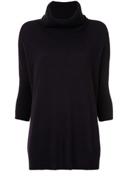 Sofia Cashmere Roll Neck Jumper Pink And Purple