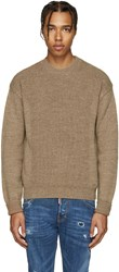 Dsquared Camel Military Knit Sweater
