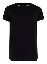 Topman The New Designers Black Square Neck T Shirt