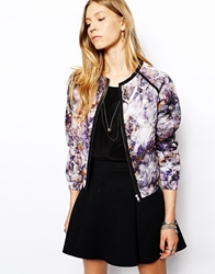 2Nd Day Tiplie Bomber Jacket In Print Multi