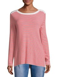 Max Mara Cogne Striped T Shirt Red