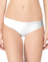 Calvin Klein Invisibles Thong Panty White