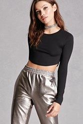 Forever 21 Heathered Knit Crop Top