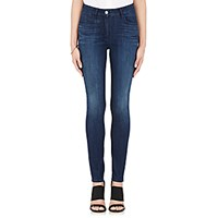 3X1 Women's High Rise Channel Seam Skinny Jeans Blue