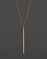 Bloomingdale's Diamond Bar Pendant Necklace In 14K Rose Gold .25 Ct. T.W.