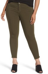 Kut From The Kloth Plus Size Women's Donna Colored Stretch Skinny Jeans Olive