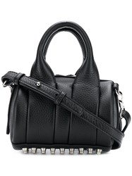 Alexander Wang Leather Mini Bowling Bag Black