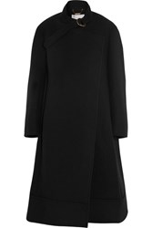 Chloe Oversized Wool And Angora Blend Felt Coat Black