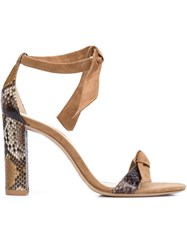 Alexandre Birman Twisted Strap Sandals Nude And Neutrals