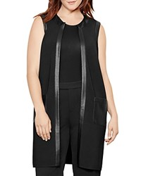Ralph Lauren Faux Leather Trim Vest Black