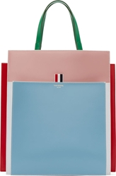 Thom Browne Pink And Blue Fun Mix Accordion Tote