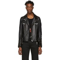 Undercover Black Leather 'Dead Hermits' Jacket