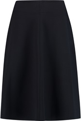 Jil Sander Stretch Wool Blend Midi Skirt
