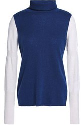 Duffy Paneled Cashmere Sweater Navy