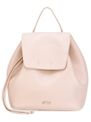 N 21 No21 Flap Backpack Women Cotton Calf Leather One Size Pink Purple