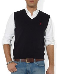Polo Ralph Lauren Pima Cotton V Neck Sweater Vest Polo Black