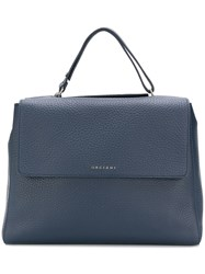Orciani Foldover Top Tote Bag Blue