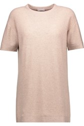 Brunello Cucinelli Embellished Cashmere Blend Top Antique Rose
