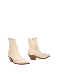 Ermanno Scervino Ankle Boots Beige