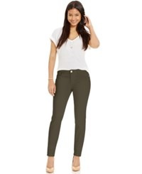 Celebrity Pink Jeans Juniors' Skinny Jeans Colored Wash Dusky Green
