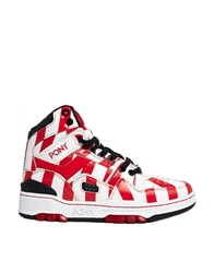 Pony By Dee And Ricky M 100 High Top Trainers Whitered