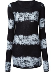 Haider Ackermann Printed Longsleeved T Shirt Black