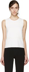 Giambattista Valli White Floral Lace Tank Top