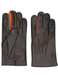 Paul Smith Classic Fitted Gloves Men Lamb Skin Wool L Brown