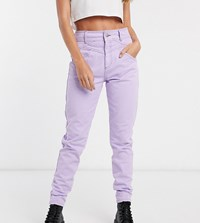 Reclaimed Vintage Straight Leg Jean With Seam Detail In Lilac Purple