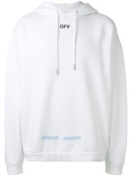 Off White Care Hoodie White