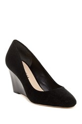 Via Spiga Pamina Textured Wedge Pump Black