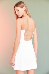 Silence And Noise Empire Waist Caged Mini Dress White