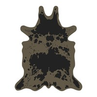 Podevache Cow Collection Vinyl Floor Mat Brown