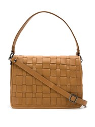 Mara Mac Leather Shoulder Bag Brown