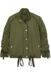 J.Crew Ruched Stretch Cotton Jacket Army Green