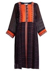 Apiece Apart Las Casas Embroidered Silk Dress Multi
