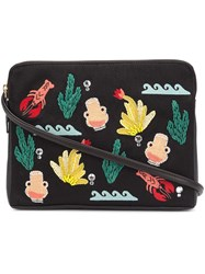 Lizzie Fortunato Jewels 'Maritime Icon Safari' Clutch Black