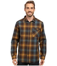 Mountain Hardwear Reversible Plaid Long Sleeve Shirt Golden Brown Men's Long Sleeve Button Up