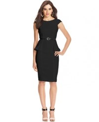Xoxo Juniors' Cap Sleeve Peplum Sheath Dress Black