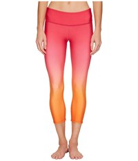 Onzie Graphic Capris Summer Rose Ombre Women's Capri Pink