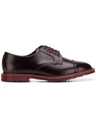 Gosha Rubchinskiy X Dr. Martens Leather Derby Shoes Red
