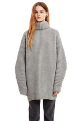 Acne Studios Isa Oversized Long Sleeve Sweater Dark Grey