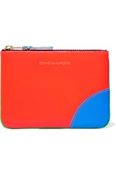 Comme Des Garcons Neon Leather Wallet Green