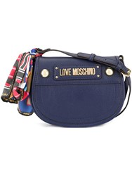 Love Moschino Cross Body Bag With Scarf Blue