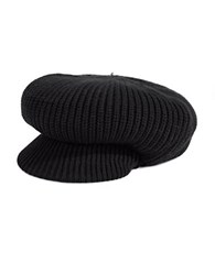 Echo Knit Newsboy Hat Black