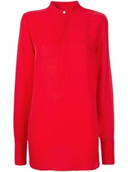 Polo Ralph Lauren Collarless Blouse Red