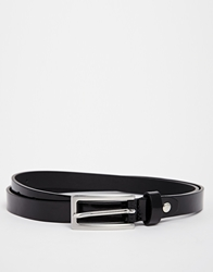 Selected Larson Leather Belt Black