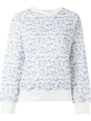 Olympia Le Tan Alice In Wonderland Print Sweatshirt Blue