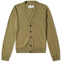 Maison Martin Margiela 14 Elbow Patch Cardigan Green